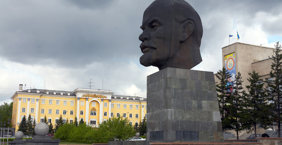 The monument to Lenin in Ulan Ude