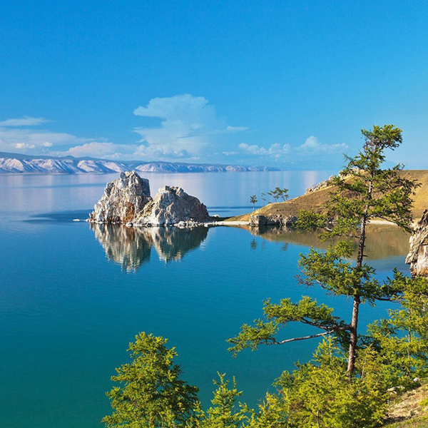 The Olkhon Island on the Baikal
