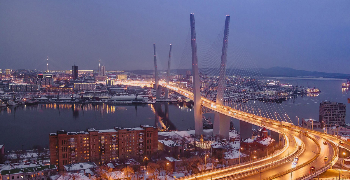 The Golden Bridge in Vladivostok
