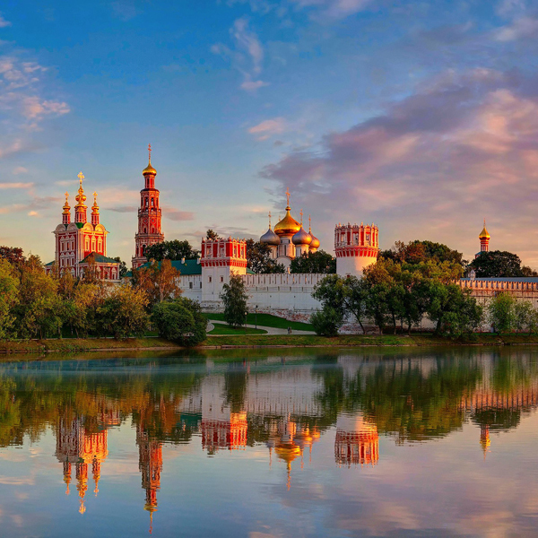 The Novodevichy monastery in Moscow