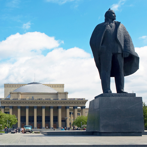 The monument to Lenin in Novosibirsk