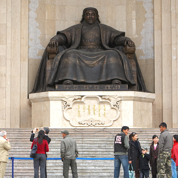 The monument to Genghis Khan in Ulaan Baatar